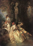 Watteau, Jean- Antone Harlequin and Columbine, 1716-1718 Art Reproductions