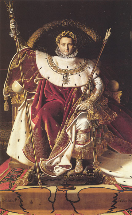 Napoleon I on His Imperial Throne, 1806 Ingres, Jean Auguste Dominique Painting Reproductions