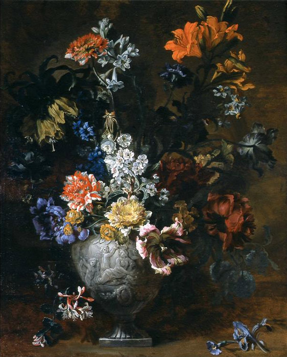 Flowers in sculpted Urns 2, 1690  Painting Reproductions