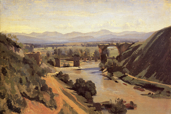 The Augustan Bridge at Narni, 1826 Corot, Jean-Baptiste -Camille Painting Reproductions