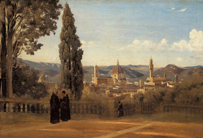 Florence - The Boboli Gardens, c.1834-1835  Painting Reproductions