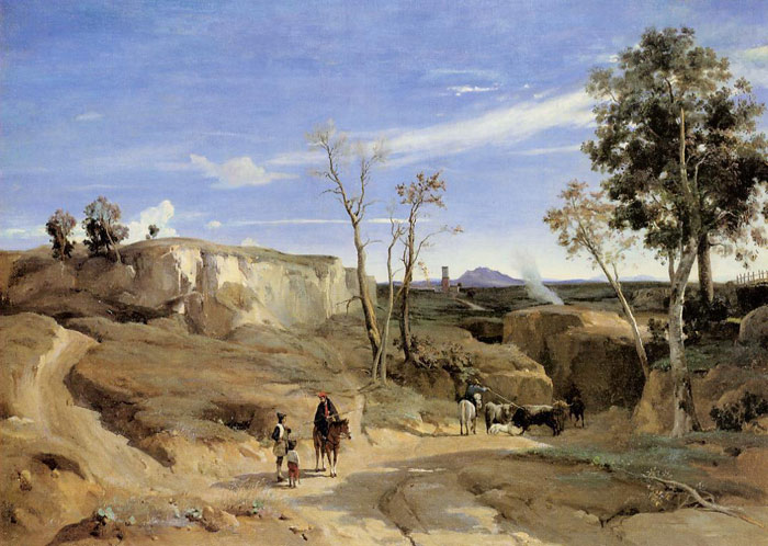 La Cervara, the Roman Countryside, c.1830-1831 Corot, Jean-Baptiste -Camille Painting Reproductions