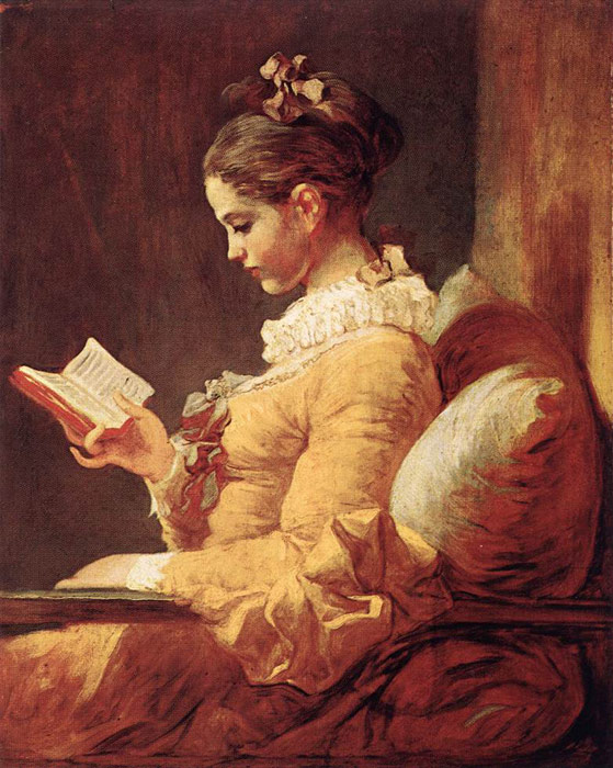 A Young Girl Reading, c.1776  Painting Reproductions