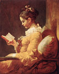 Fragonard, Jean- Honore A Young Girl Reading, c.1776 Art Reproductions