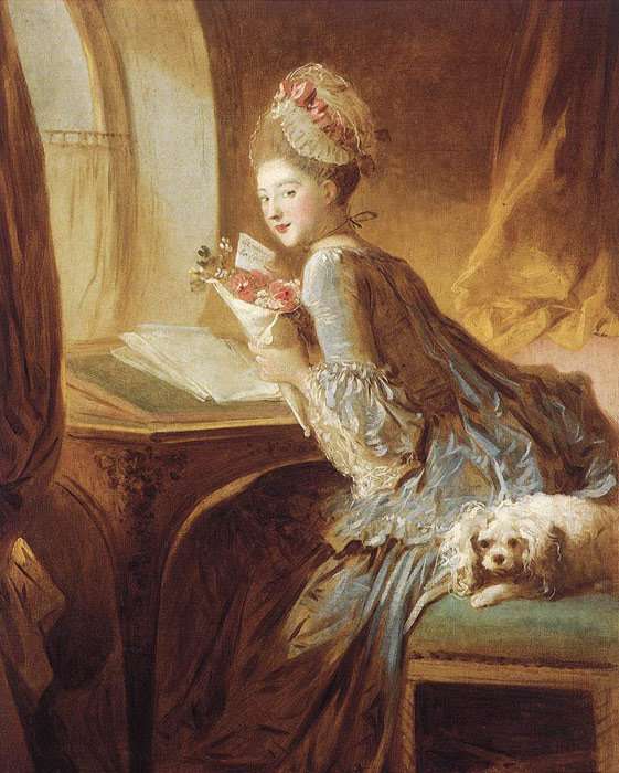 The Love Letter, c.1770-1780  Painting Reproductions