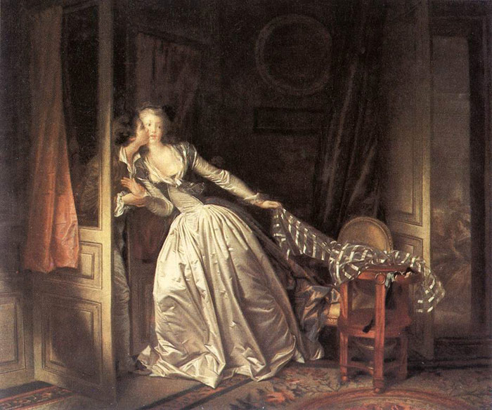 The Stolen Kiss, 1787-1789  Painting Reproductions