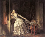 Fragonard, Jean- Honore The Stolen Kiss, 1787-1789 Art Reproductions
