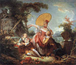 Fragonard, Jean- Honore The Musical Contest, c.1754 Art Reproductions