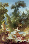 Fragonard, Jean- Honore The Progress of Love: The Pursuit. 1771-1773 Art Reproductions