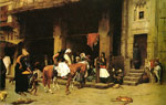 3022 A Street Scene in Cairo, 1870-1871 Art Reproductions