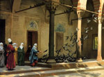 Gerome, Jean-Leon Harem Women Feeding Pigeons in a Courtyard , 1894	 Art Reproductions