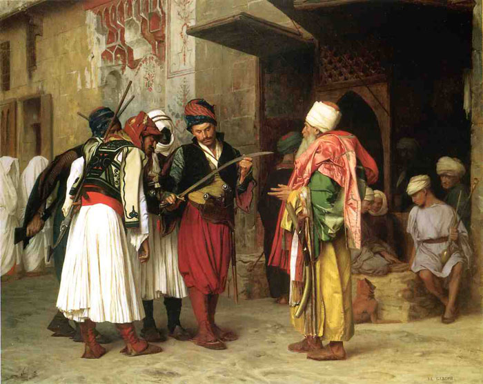Old Clothing Merchant in Cairo aka Roaving Merchant in Cairo, 1866	  Painting Reproductions