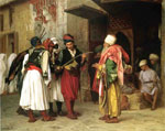 Gerome, Jean-Leon Old Clothing Merchant in Cairo aka Roaving Merchant in Cairo, 1866	 Art Reproductions