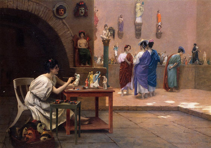 Painting Breathes Life into Sculpture aka Tanagra's Studio , 1893  Painting Reproductions