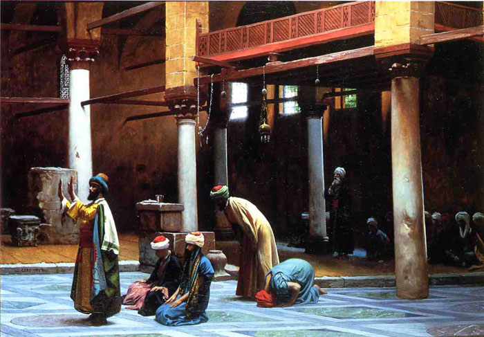Prayer in a Mosque, 1892  Painting Reproductions