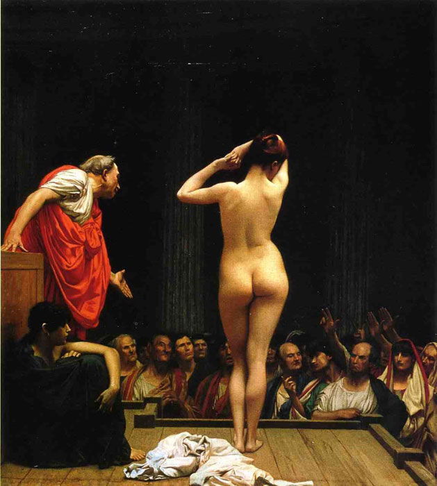 Selling Slaves in Rome, 1886 Gerome, Jean-Leon Painting Reproductions