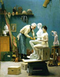Gerome, Jean-Leon Working in Marble , 1895 Art Reproductions