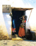 Gerome, Jean-Leon Woman from Cairo at Her Door , 1887	 Art Reproductions