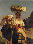 Gerome, Jean-Leon Two Italian Peasant Women and an Infant, 1849 	 Art Reproductions