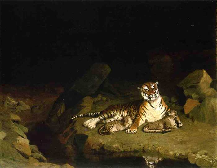 Tigress and Her Cubs, 1895  Painting Reproductions