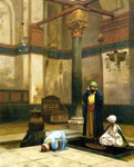 Gerome, Jean-Leon Theree Worshippers Praying in a Corner of a Mosque , 1880 Art Reproductions