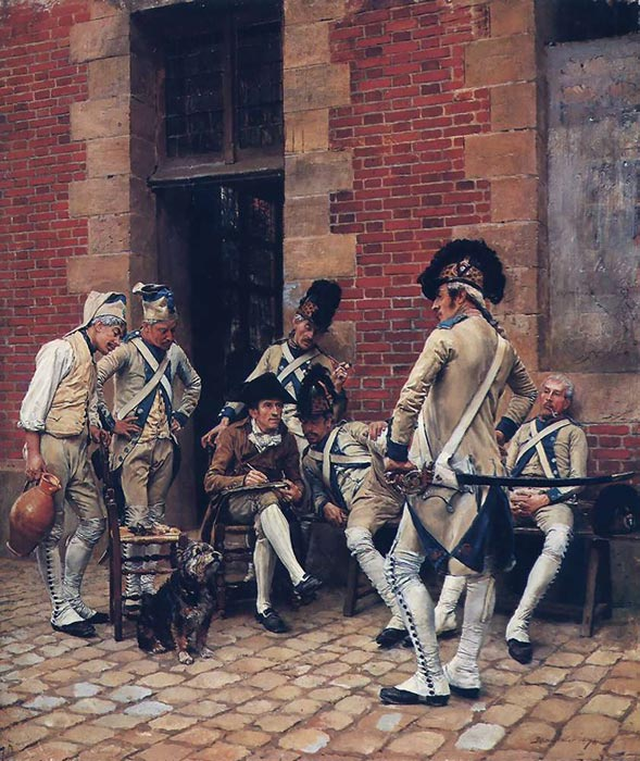 The Sergeant's Portrait, 1874  Painting Reproductions
