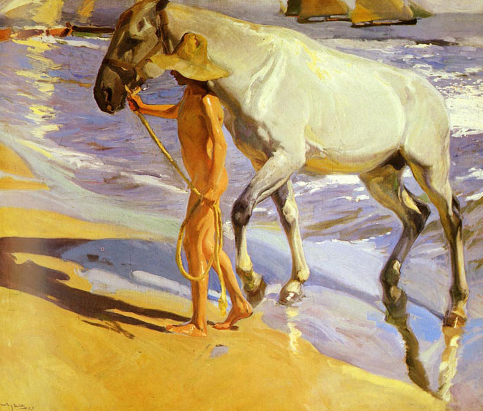 El bano del Caballo [The Horse's Bath], 1909  Painting Reproductions