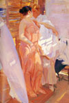 Sorolla y Bastida, Joaquin La bata rosa [The Pink Robe], 1916 Art Reproductions
