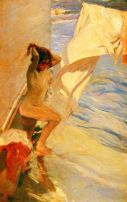Antes del bano [Before Bathing], 1909 Sorolla y Bastida, Joaquin Painting Reproductions