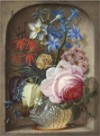 Angermeyer, Johann Adalbert Flowers in a vase in a stone niche, 1719 Art Reproductions