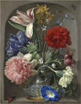 Angermeyer, Johann Adalbert Flowers in a vase in a stone niche 2,  1719 Art Reproductions