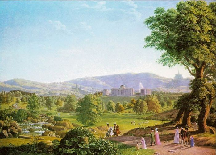 Schloss Wilhelmshöhe with the Habichtswald, 1800  Painting Reproductions
