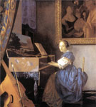 Vermeer, Johannes Lady Seated at a Virginal, c.1673 Art Reproductions