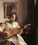 Vermeer, Johannes The Guitar Player, c.1672 Art Reproductions