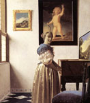 Vermeer, Johannes Lady Standing at a Virginal Art Reproductions