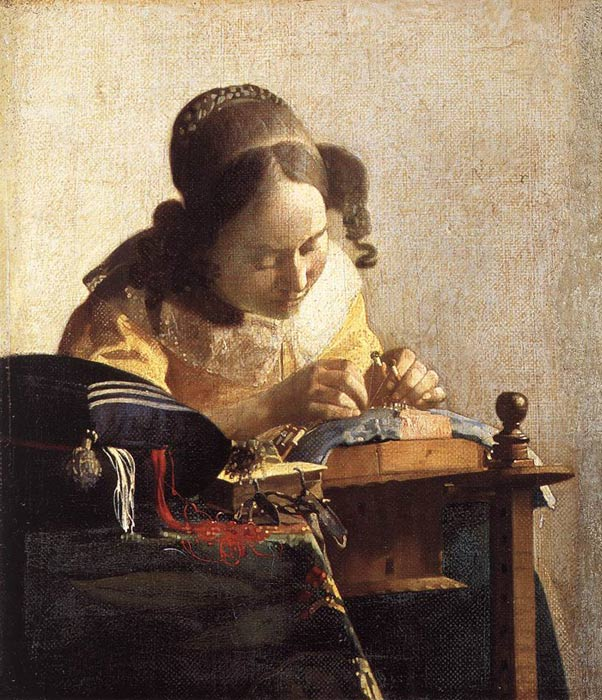 The Lacemaker, c.1669-1670 Vermeer, Johannes Painting Reproductions