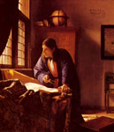 Vermeer, Johannes The Geographer, c.1668 Art Reproductions