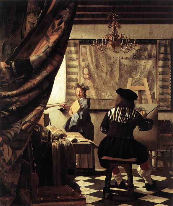 The Art of Painting, 1666-1668 Vermeer, Johannes Painting Reproductions