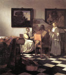 Vermeer, Johannes The Concert, 1665-1666 Art Reproductions