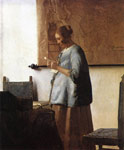Vermeer, Johannes Woman in Blue Reading a Letter, 1663-1664 Art Reproductions
