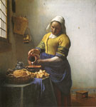 8667 The Milkmaid (The Kitchen Maid), 1660 Art Reproductions