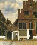 0 Street in Delft, 1658 Art Reproductions