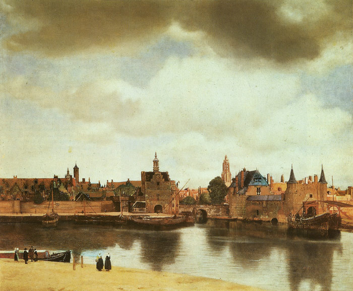 View of Delft, 1658 Vermeer, Johannes Painting Reproductions