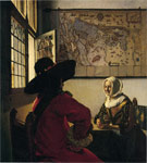 Vermeer, Johannes Officer and Laughing Girl, 1660 Art Reproductions