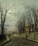 Grimshaw, John Atkinson A Wintry Moon, 1886 Art Reproductions
