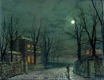 Grimshaw, John Atkinson The Old Hall Under Moonlight, 1882 Art Reproductions
