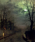 Grimshaw, John Atkinson A Lane In Headingley, Leeds , 1881 Art Reproductions