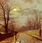 Grimshaw, John Atkinson Lane In Cheshire, 1883 Art Reproductions