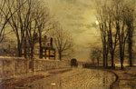 Grimshaw, John Atkinson The Turn of the Road, 1883 Art Reproductions