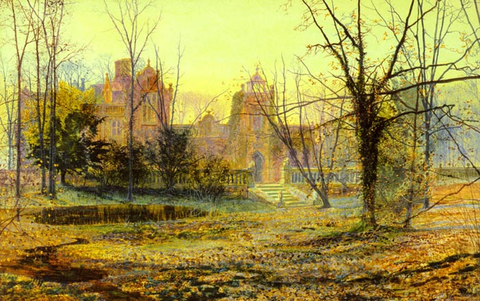 Evening, Knostrop Old Hall, 1870  Painting Reproductions